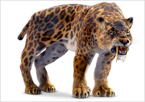 3D модель саблезубого тигра