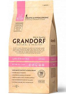 Grandof ягнёнок с рисом для котят